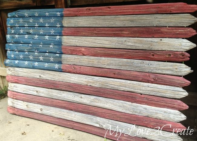 Best ideas about DIY Wood American Flag . Save or Pin DIY Rustic Fence American Flag Southern Guide to Life Now.
