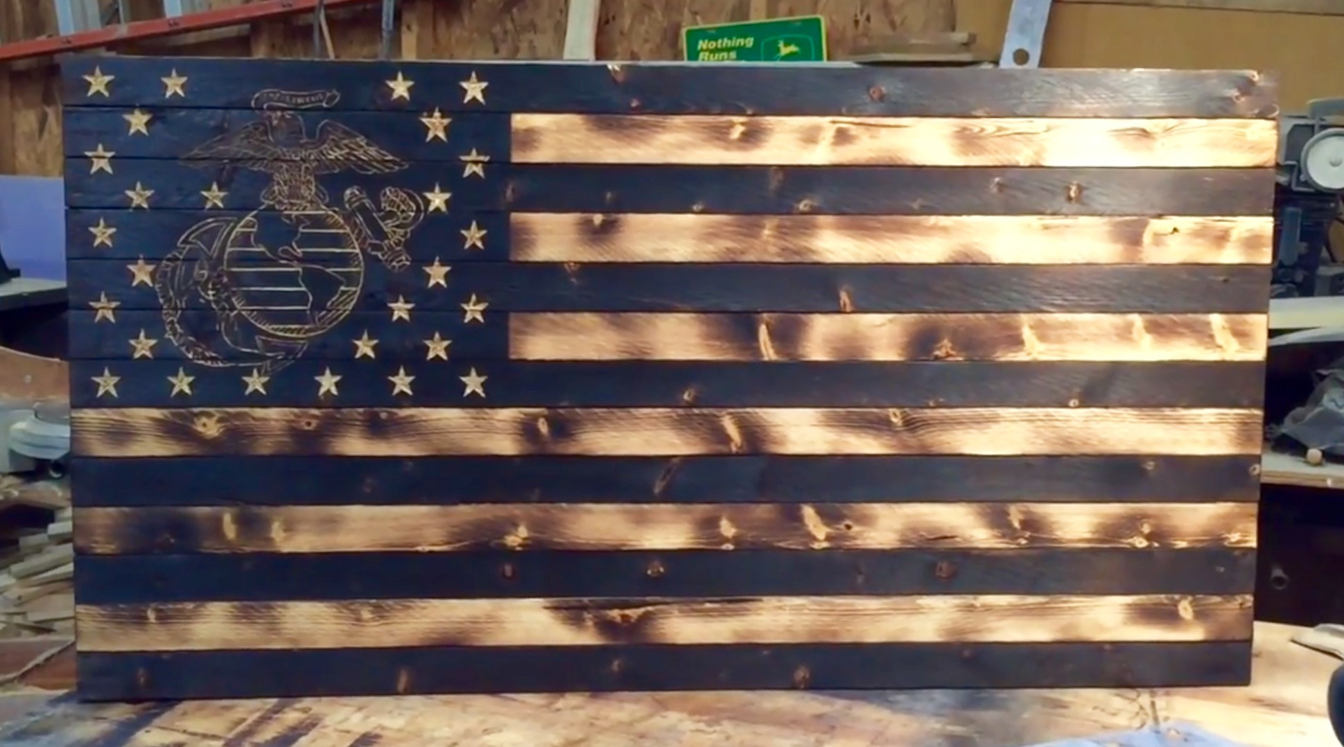 Best ideas about DIY Wood American Flag . Save or Pin DIY Wooden American Marine Flag The Furrminator Now.