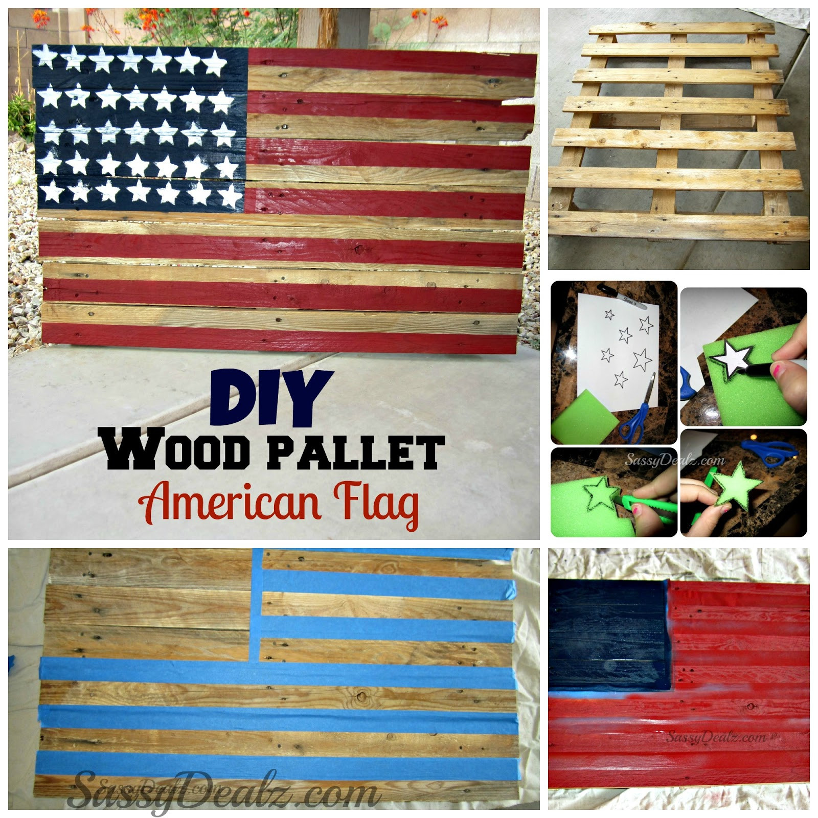 Best ideas about DIY Wood American Flag . Save or Pin DIY How To Make an American Flag out of a Wood Pallet Now.