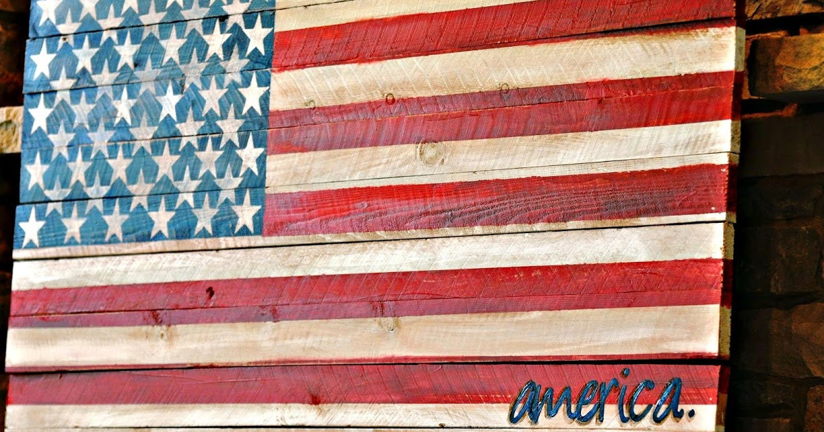 Best ideas about DIY Wood American Flag . Save or Pin Serendipity Refined Blog Pallet Wood Fence Board American Now.