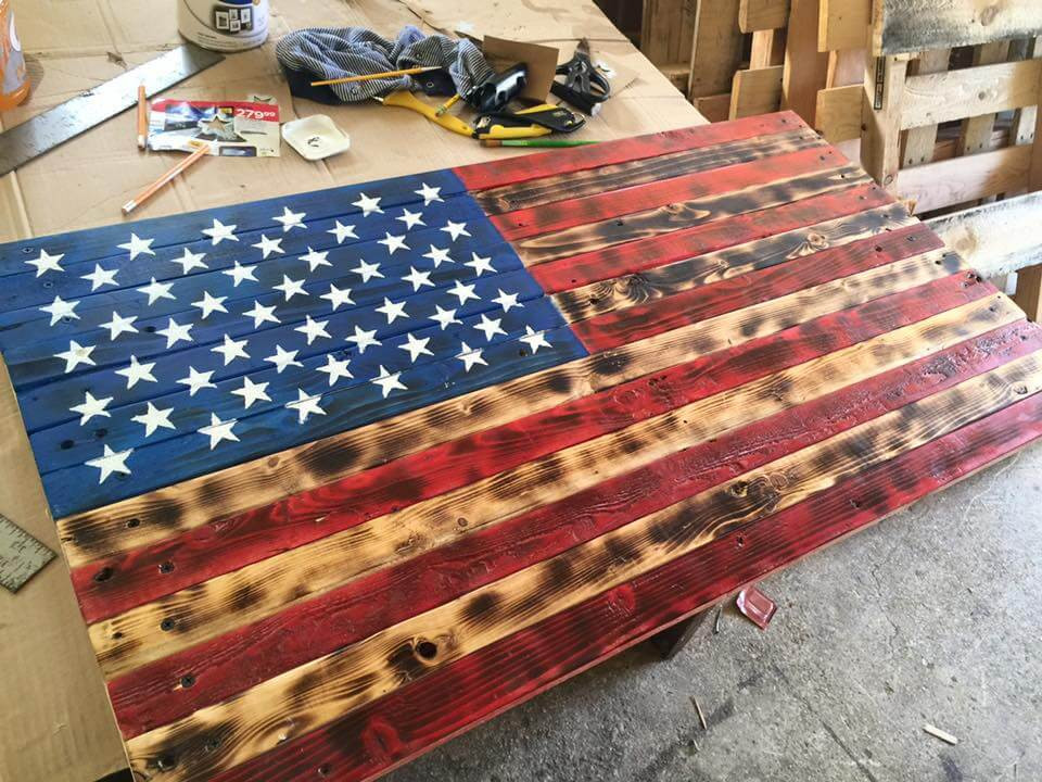 Best ideas about DIY Wood American Flag . Save or Pin Pallet American Flag Wall Art Now.