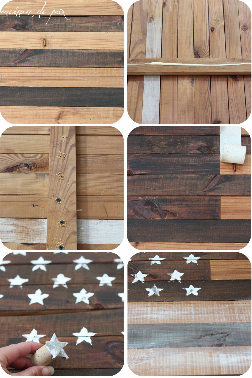 Best ideas about DIY Wood American Flag . Save or Pin DIY Planked American Flag Maison de Pax Now.