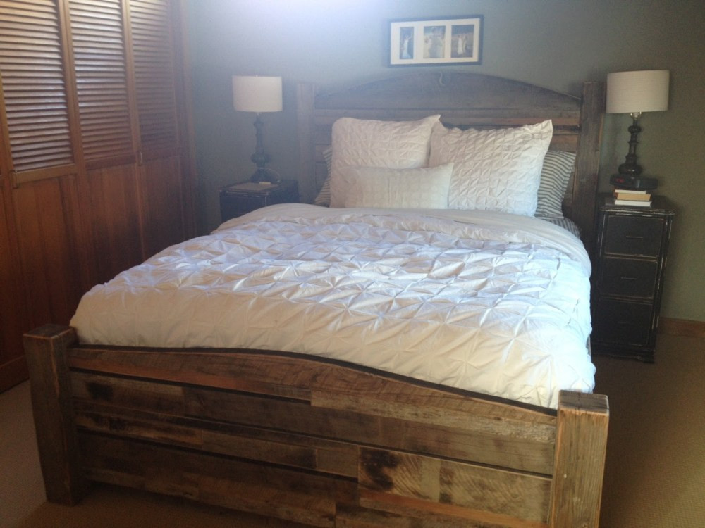 Best ideas about DIY Wood Bed . Save or Pin King Bed Frame Reclaimed Wood Now.