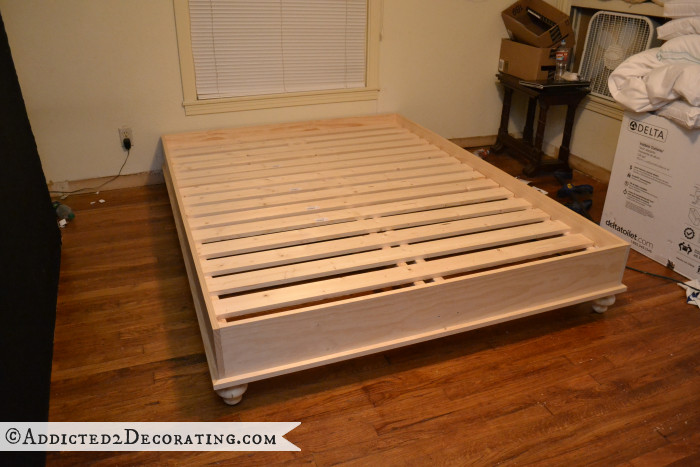 Best ideas about DIY Wood Bed . Save or Pin DIY Stained Wood Raised Platform Bed Frame – Part 1 Now.
