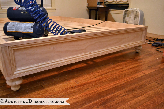 Best ideas about DIY Wood Bed . Save or Pin DIY Stained Wood Raised Platform Bed Frame – Part 2 Now.