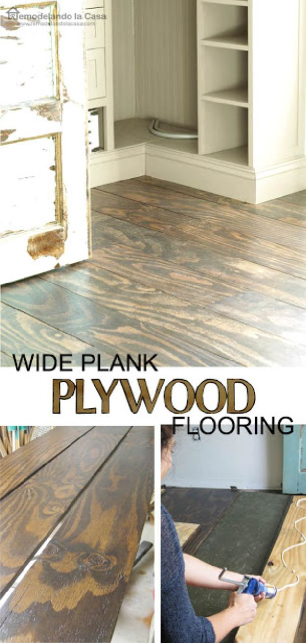Best ideas about DIY Wood Floors Cheap . Save or Pin 34 DIY Flooring Projects That Will Transform Your Home Now.