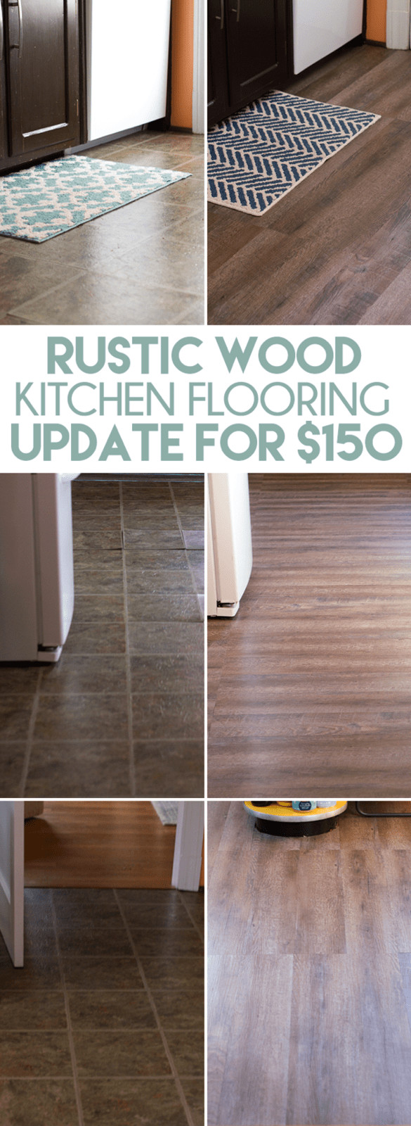 Best ideas about DIY Wood Floors Cheap . Save or Pin Inexpensive Rustic Wood Kitchen Floors Now.