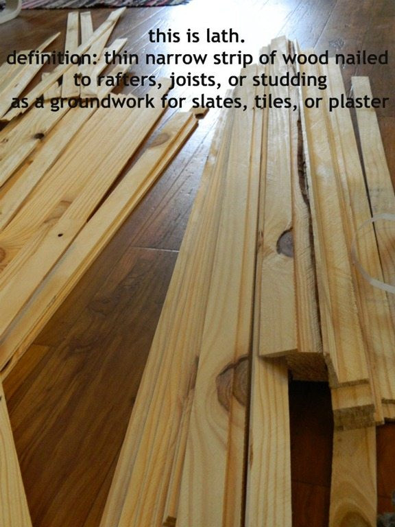 Best ideas about DIY Wood Floors Cheap . Save or Pin Cheap flooring idea lath floor tutorial Now.