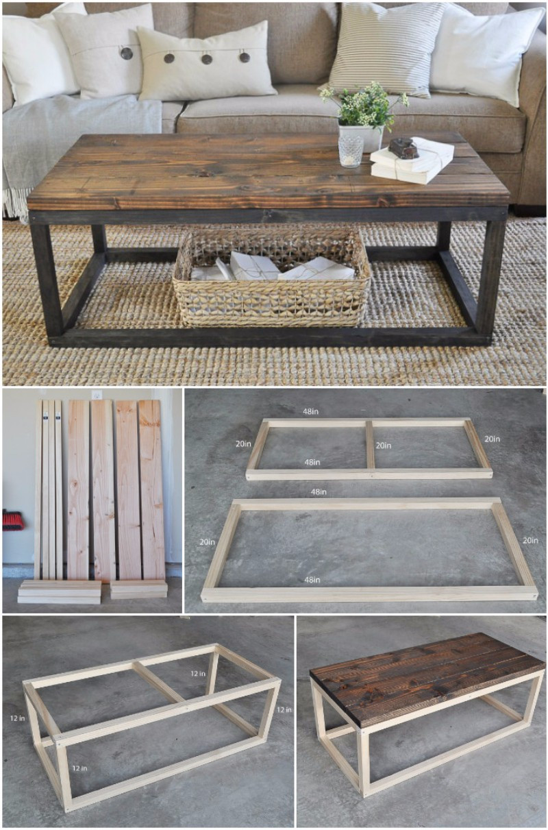Best ideas about DIY Wood Table . Save or Pin 20 Super Cool Easy To Do DIY Coffee Table Ideas Home Magez Now.