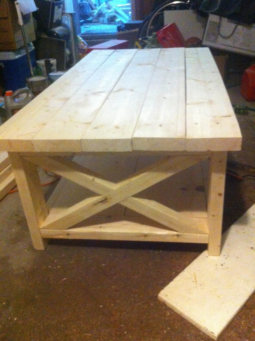 Best ideas about DIY Wood Table . Save or Pin artisan des arts DIY Oxidized wood X coffee table Now.