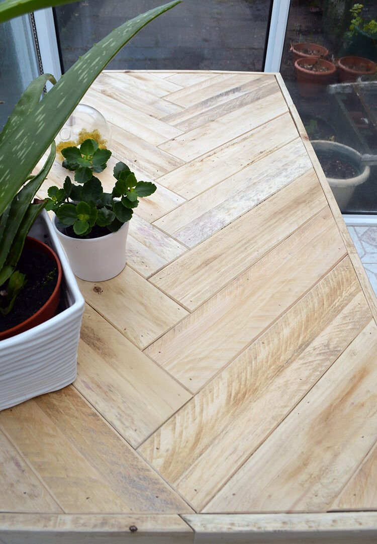 Best ideas about DIY Wood Table . Save or Pin DIY Wooden Table made with Pallet Wood Lovely Greens Now.