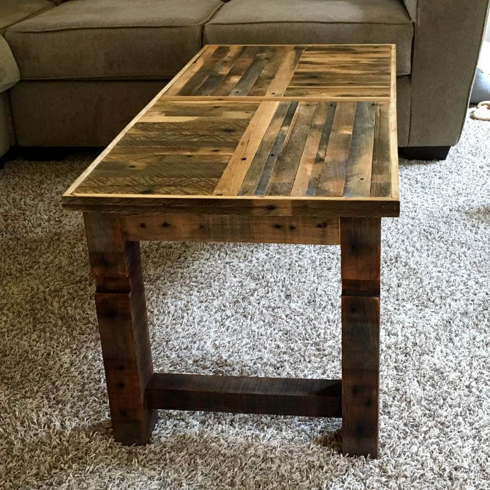 Best ideas about DIY Wood Table . Save or Pin Art Style Pallet Table and Wall Clock 101 Pallet Ideas Now.
