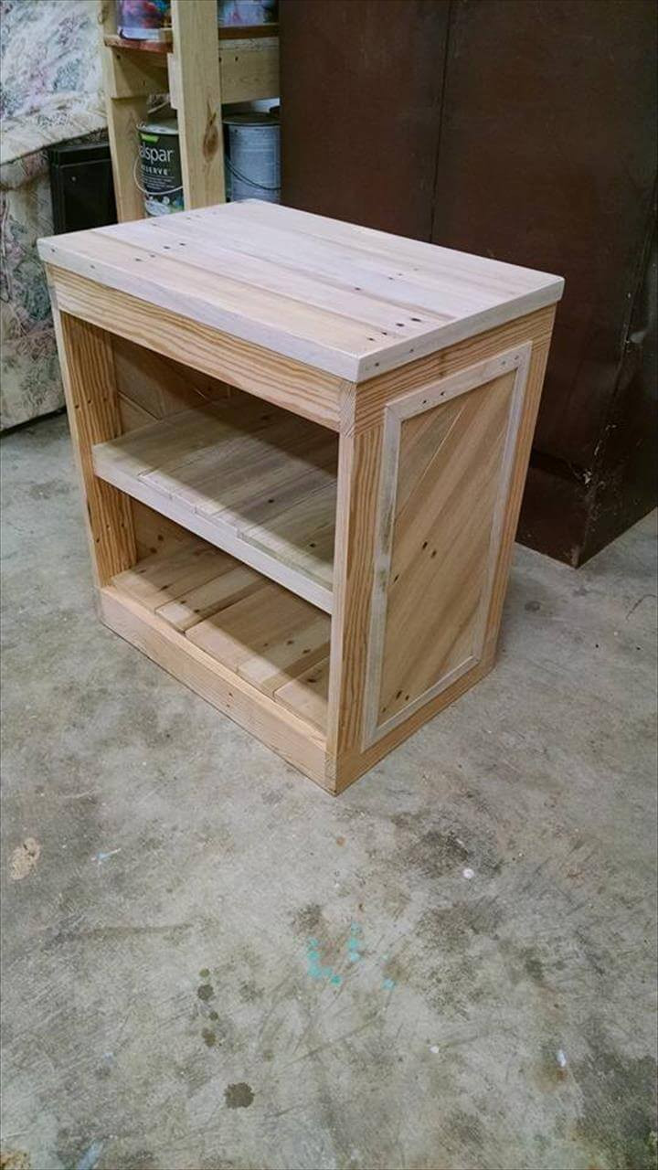 Best ideas about DIY Wood Table . Save or Pin DIY Pallet Nightstand or Side Table Now.