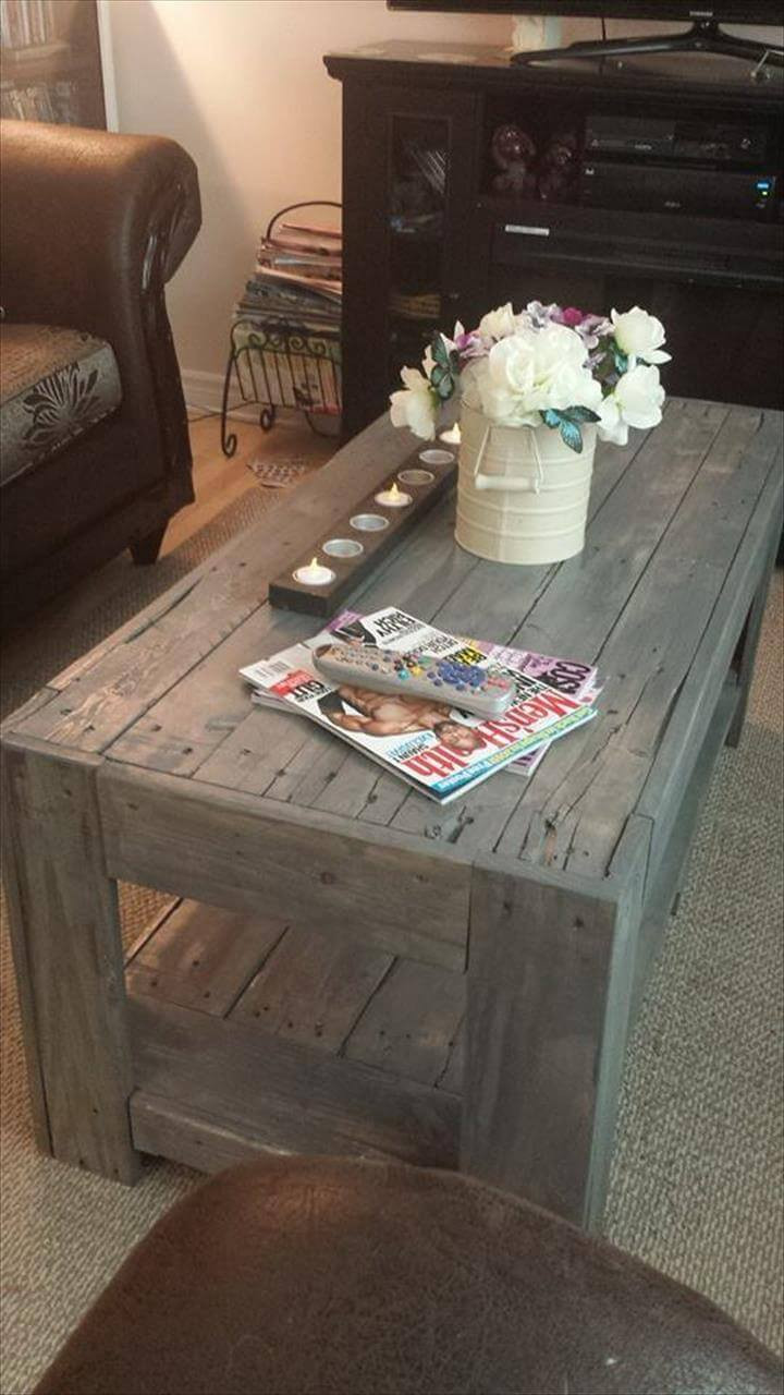 Best ideas about DIY Wood Table . Save or Pin DIY Wood Pallet Coffee Table Now.