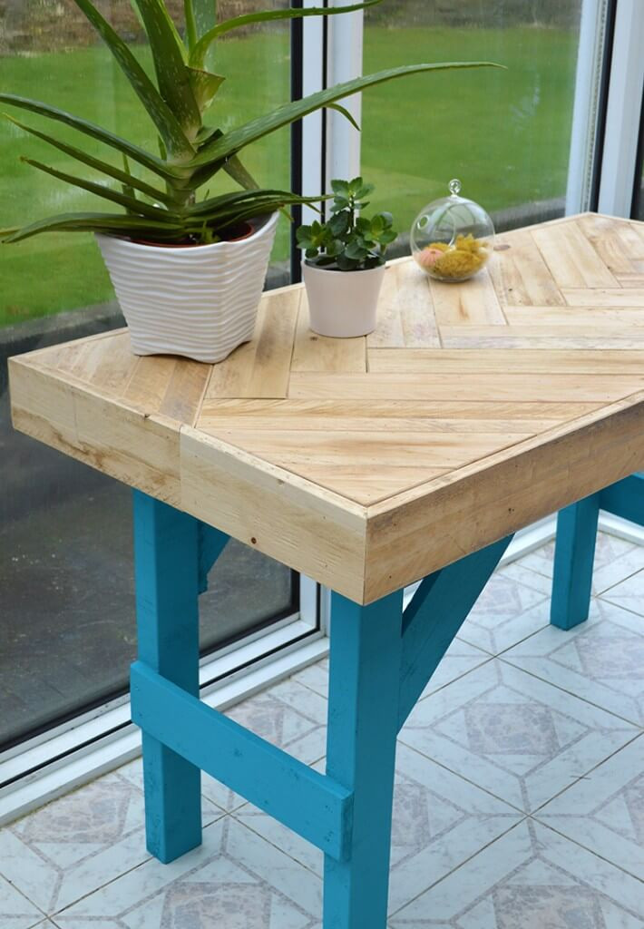 Best ideas about DIY Wood Table . Save or Pin DIY Wooden Table made with Pallet Wood • Lovely Greens Now.