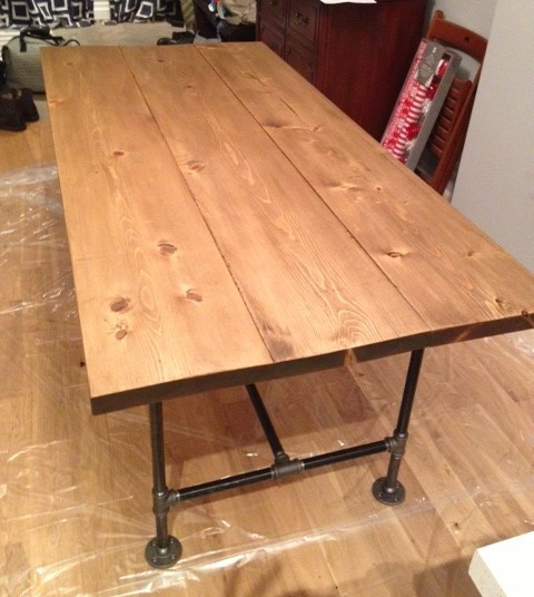 Best ideas about DIY Wood Table . Save or Pin DIY Pipe & Wood Table Pt 2 Storefront Life Now.