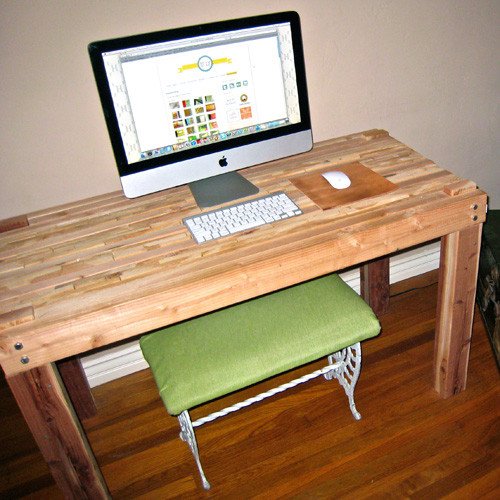 Best ideas about DIY Wooden Desk . Save or Pin Homemade wood desk Backyard arbor Now.