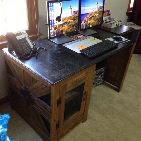 Best ideas about DIY Wooden Desk . Save or Pin diy wooden puter desk Now.