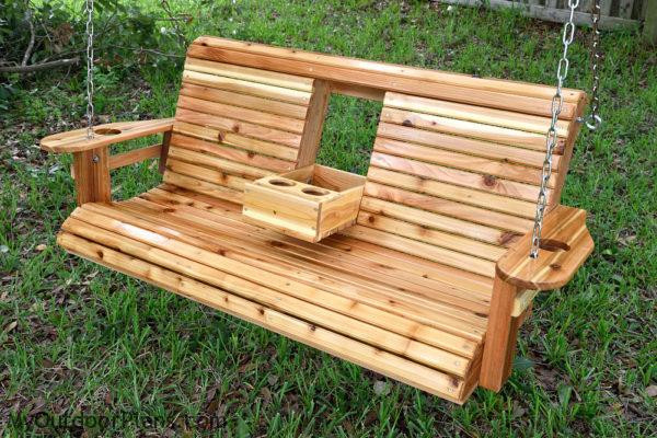 Best ideas about DIY Wooden Swing . Save or Pin DIY Wood Porch Swing MyOutdoorPlans Now.