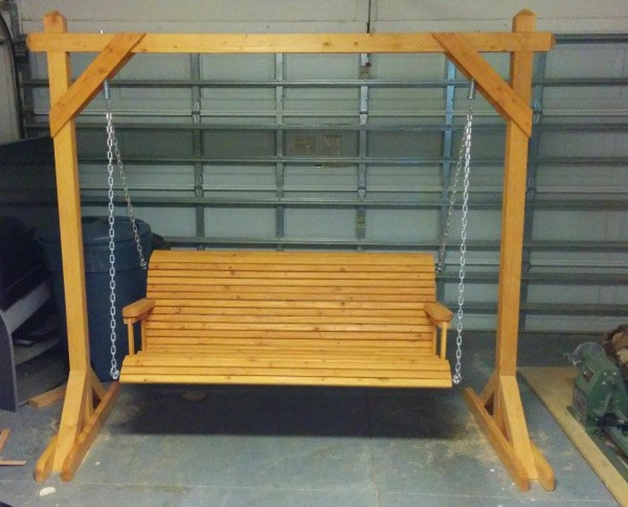 Best ideas about DIY Wooden Swing . Save or Pin Unwind in your yard with a DIY wood porch swing with cup Now.