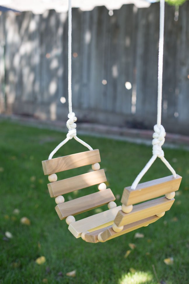 Best ideas about DIY Wooden Swing . Save or Pin DIY Tree Swing for Kids & Adults Now.