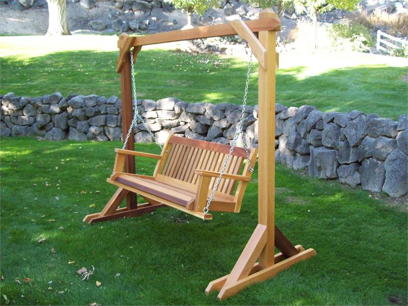 Best ideas about DIY Wooden Swing . Save or Pin Outdoor Wooden Swing Plans Wooden A Frame Swing Plans DIY Now.