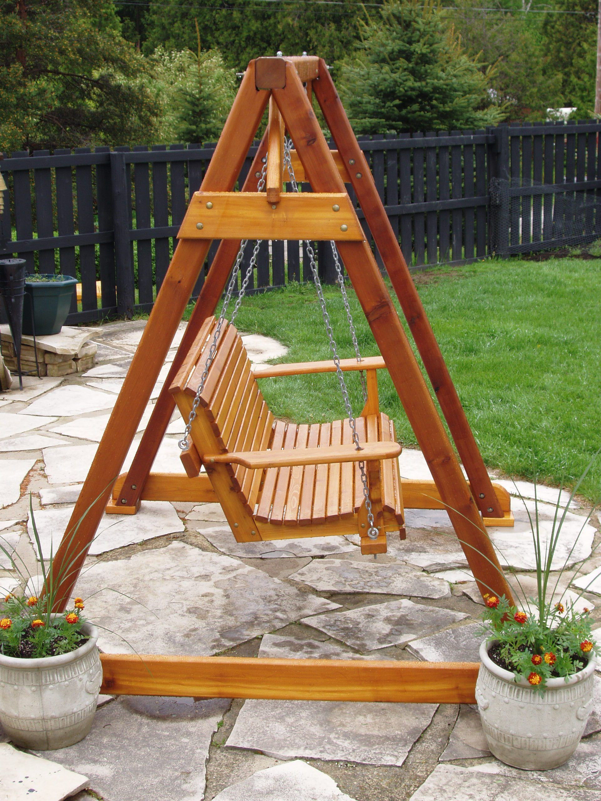 Best ideas about DIY Wooden Swing . Save or Pin Build DIY How to build a frame porch swing stand PDF Plans Now.