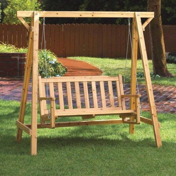 Best ideas about DIY Wooden Swing . Save or Pin diy wooden swing set plans free Now.