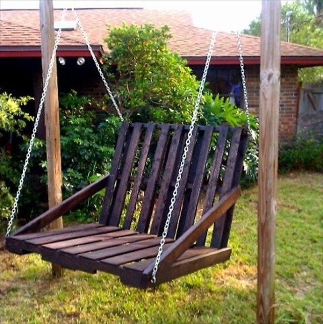 Best ideas about DIY Wooden Swing . Save or Pin DIY Pallet Garden Swing Projects Pallet Idea Now.