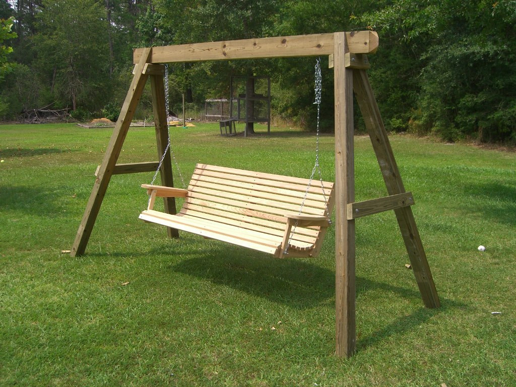 Best ideas about DIY Wooden Swing . Save or Pin Outdoor Wooden Swing Plans How To Build A Freestanding Now.