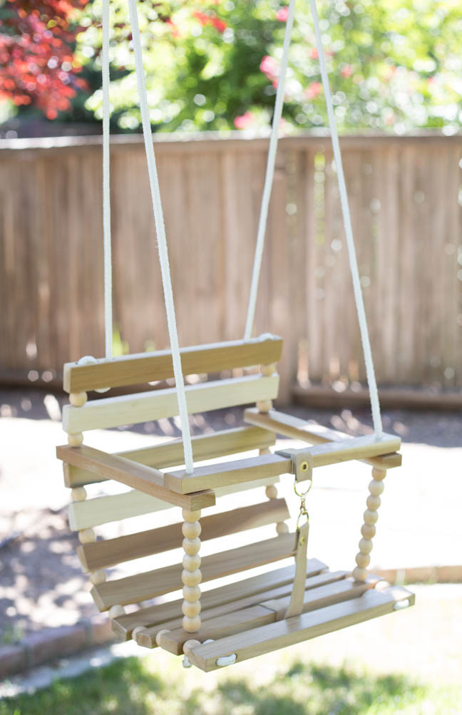 Best ideas about DIY Wooden Swing . Save or Pin DIY Tree Swing for Baby Now.