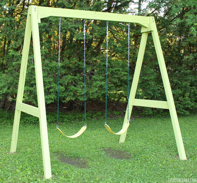 Best ideas about DIY Wooden Swing . Save or Pin Swing Set Old to New with Paint Now.