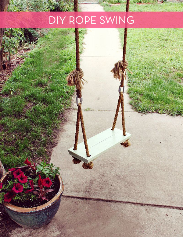 Best ideas about DIY Wooden Swing . Save or Pin 10 DIY Adorable Tree Swings Home Ideas Modern Home Design Now.