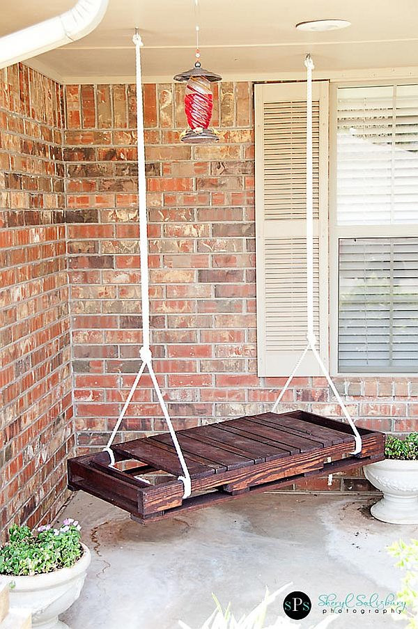 Best ideas about DIY Wooden Swing . Save or Pin DIY Pallet Swing Simple and easy way to craft up your own Now.