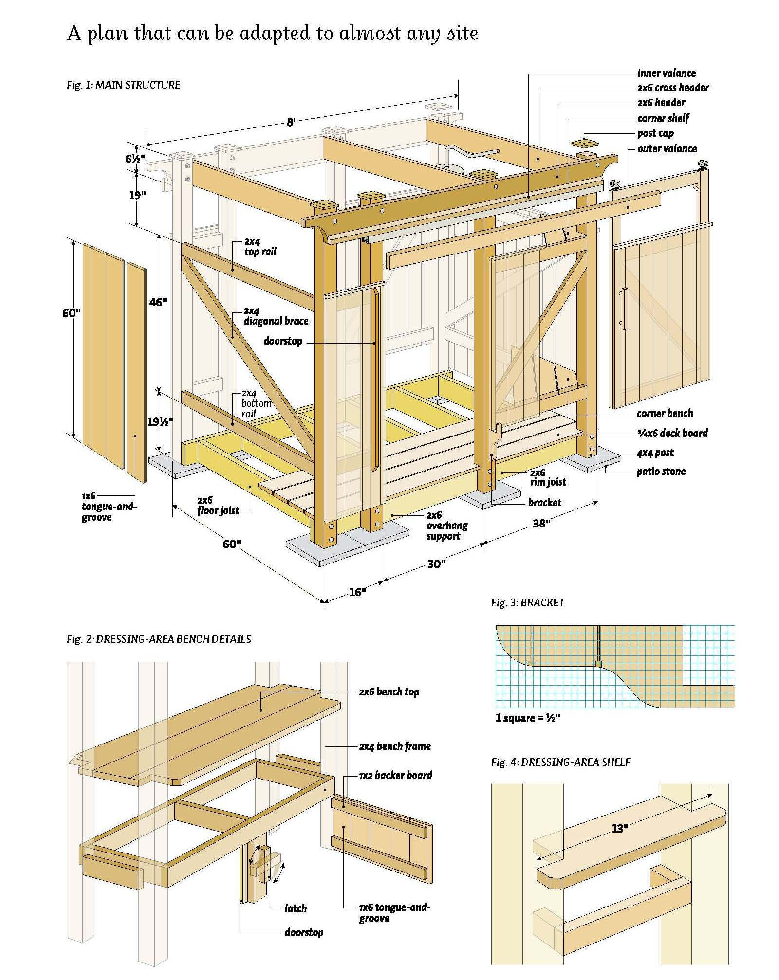 Best ideas about DIY Woodworking Plans . Save or Pin free outdoor shower wood plans DIY Pinterest Now.