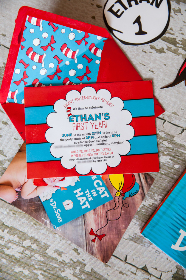 Best ideas about Dr Seuss 1st Birthday Invitations . Save or Pin Nico and LaLa Dr Seuss First Birthday Now.