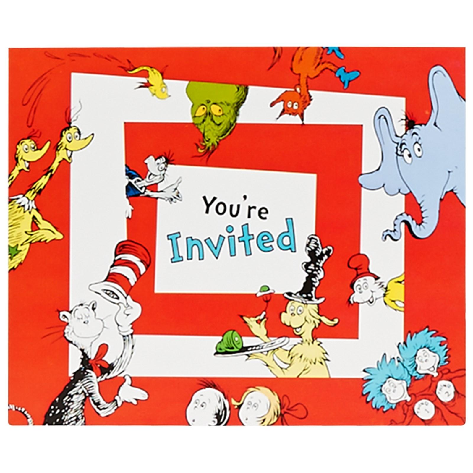 Best ideas about Dr Seuss 1st Birthday Invitations . Save or Pin Dr Seuss 1st Birthday Invitations Now.
