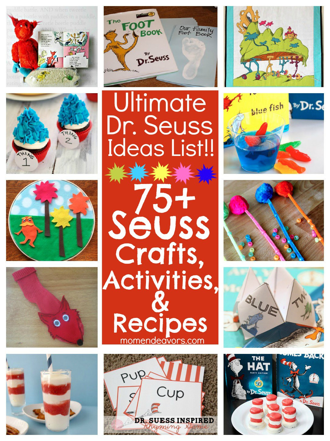 Best ideas about Dr Seuss Craft Ideas For Preschoolers . Save or Pin 75 Dr Seuss Crafts Activities and Fun Foods Now.