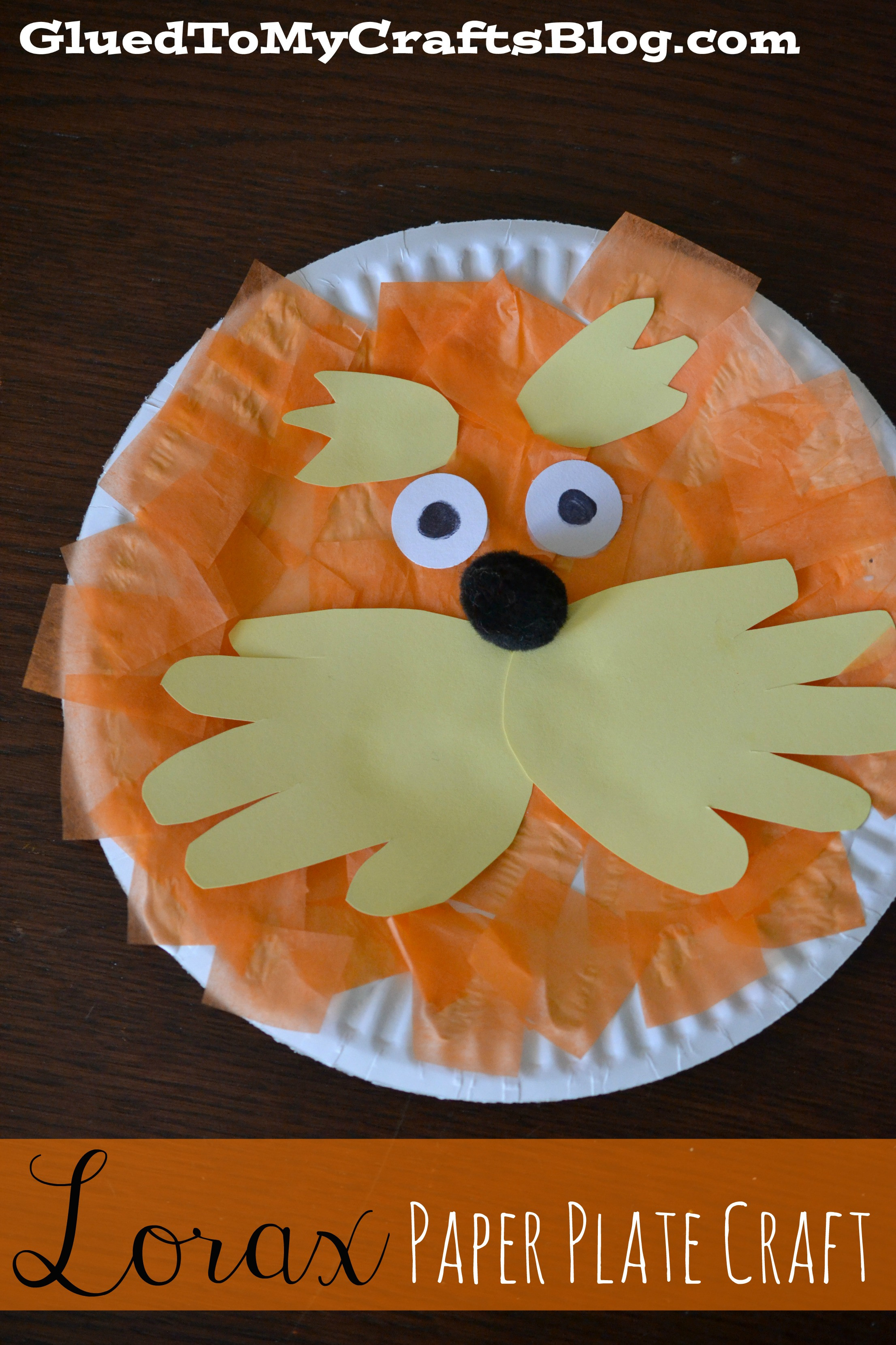 Best ideas about Dr Seuss Craft Ideas For Preschoolers . Save or Pin Lorax Paper Plate Craft Now.