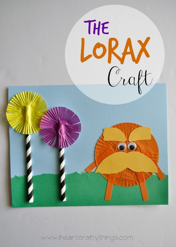 Best ideas about Dr Seuss Craft Ideas For Preschoolers . Save or Pin The Lorax Dr Seuss Kids Craft Now.