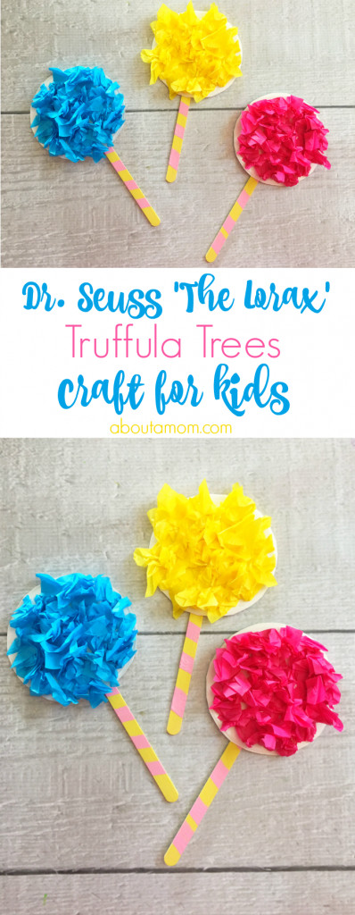 Best ideas about Dr Seuss Craft Ideas For Preschoolers . Save or Pin Truffula Trees Craft inspired by The Lorax About A Mom Now.