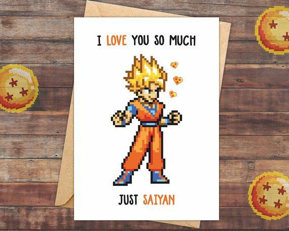 Best ideas about Dragon Ball Z Gift Ideas For Boyfriend . Save or Pin 5 Geeky Valentine s Day cards Diy Now.