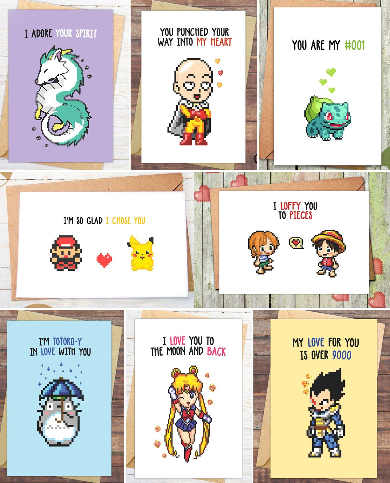 Best ideas about Dragon Ball Z Gift Ideas For Boyfriend . Save or Pin Anime Valentines Day Cards Draw Pinterest Now.