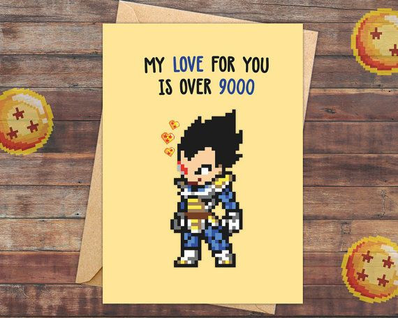 Best ideas about Dragon Ball Z Gift Ideas For Boyfriend . Save or Pin 54 best Geeky Gamer Greeting Cards images on Pinterest Now.
