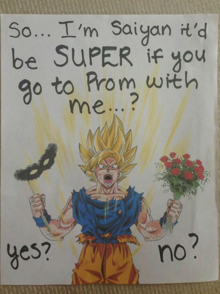 Best ideas about Dragon Ball Z Gift Ideas For Boyfriend . Save or Pin say yes to prom dragon ball z Google Search Now.