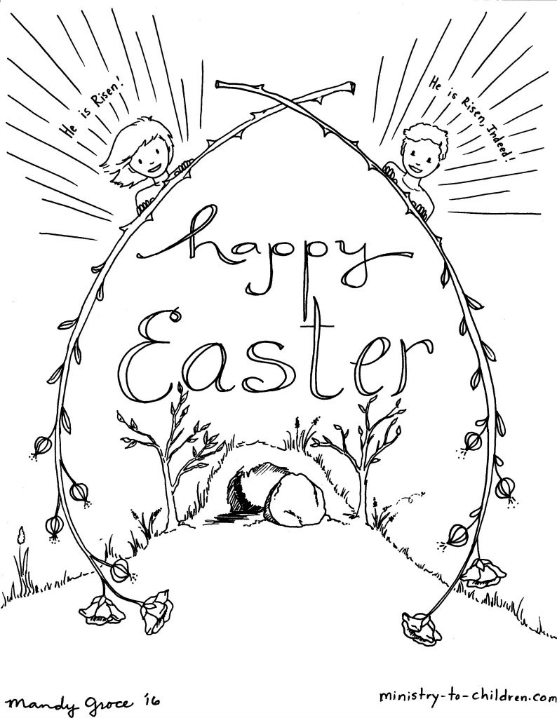 Best ideas about Easter Jesus Free Coloring Sheets . Save or Pin Childrens Church Coloring Pages For Easter The Art Jinni Now.
