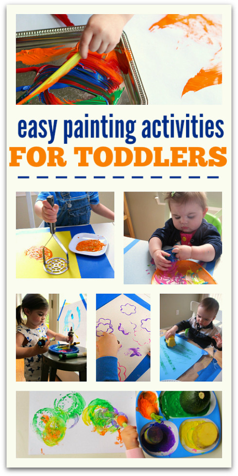 Best ideas about Easy Activities For Preschoolers . Save or Pin Easy Painting Activities For Toddlers No Time For Flash Now.
