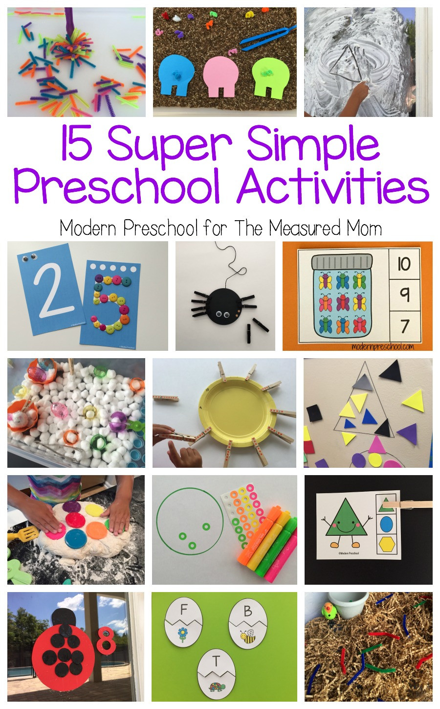 Best ideas about Easy Activities For Preschoolers . Save or Pin 15 Super simple learning centers for preschool The Now.