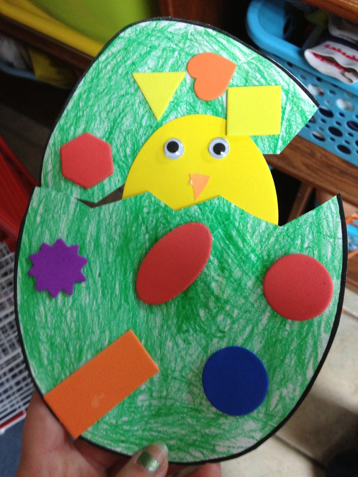Best ideas about Easy Crafts For Preschoolers . Save or Pin Preschool Crafts for Kids Easy Easter Chick Egg Now.