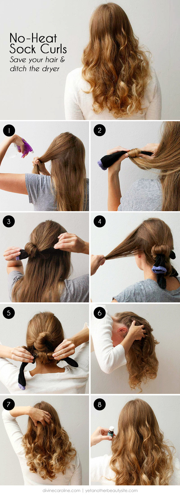 Best ideas about Easy Overnight Hairstyles . Save or Pin 10 Clever Ways to Get No Heat Beachy Waves Now.